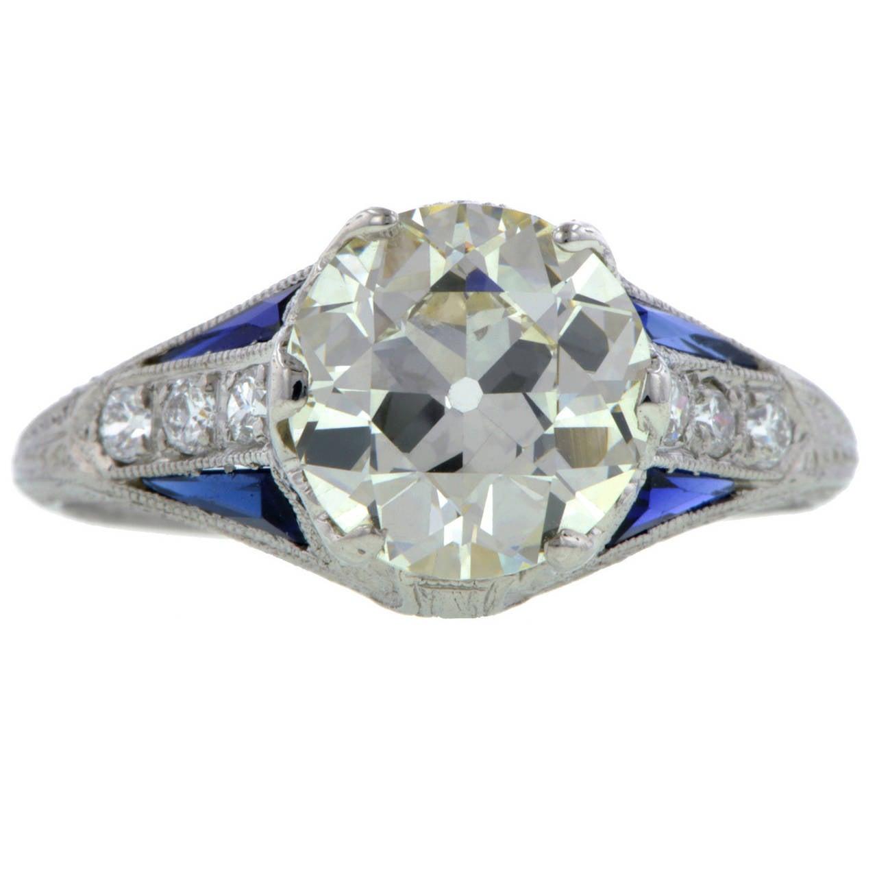 Art Deco 2 30 Carat Diamond Engagement Ring at 1stdibs