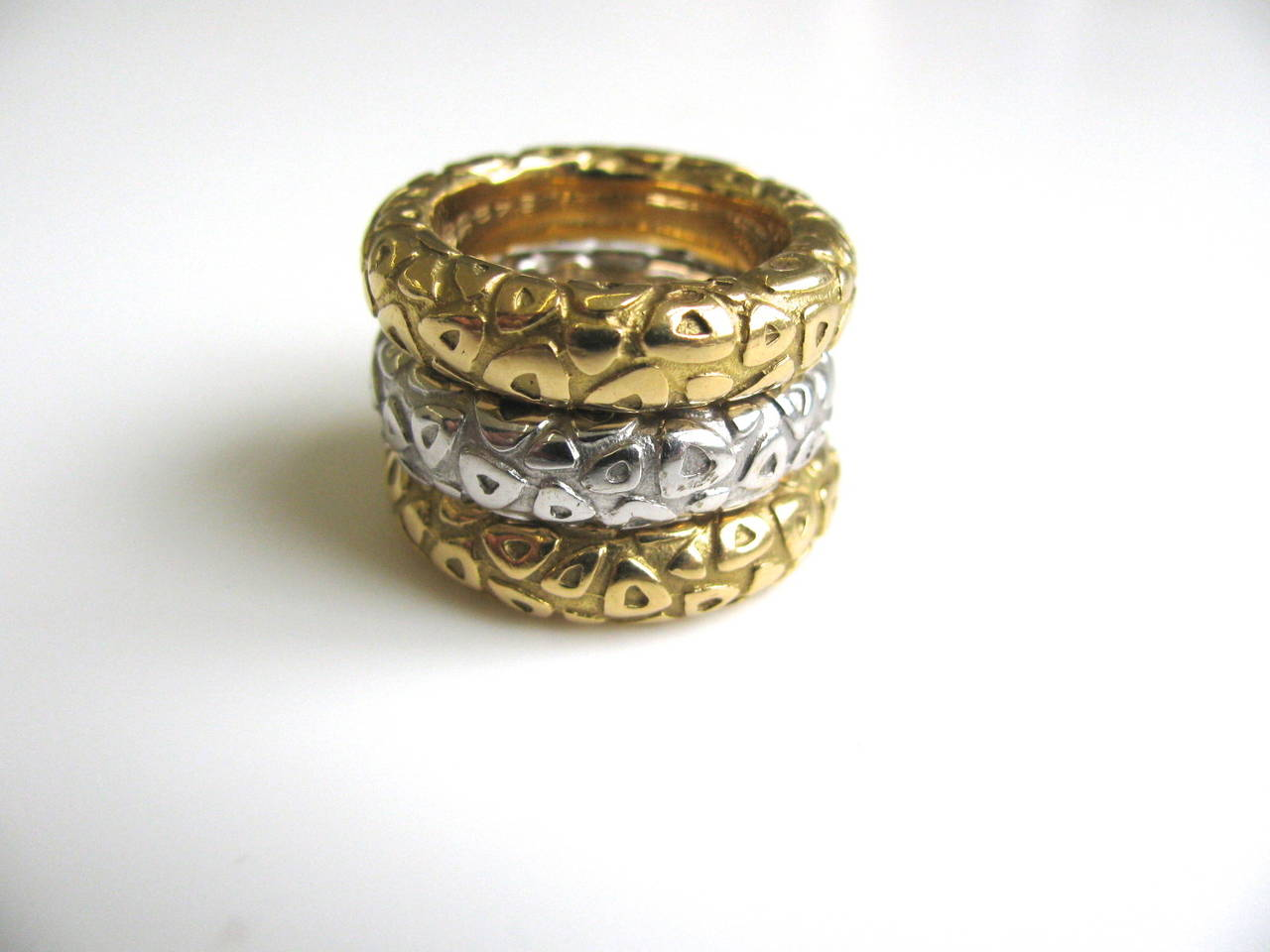 chaumet gold stackable rings at 1stdibs