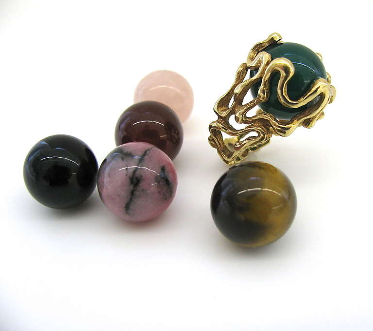 gilbert albert quot lost my marbles quot gold and agate ring