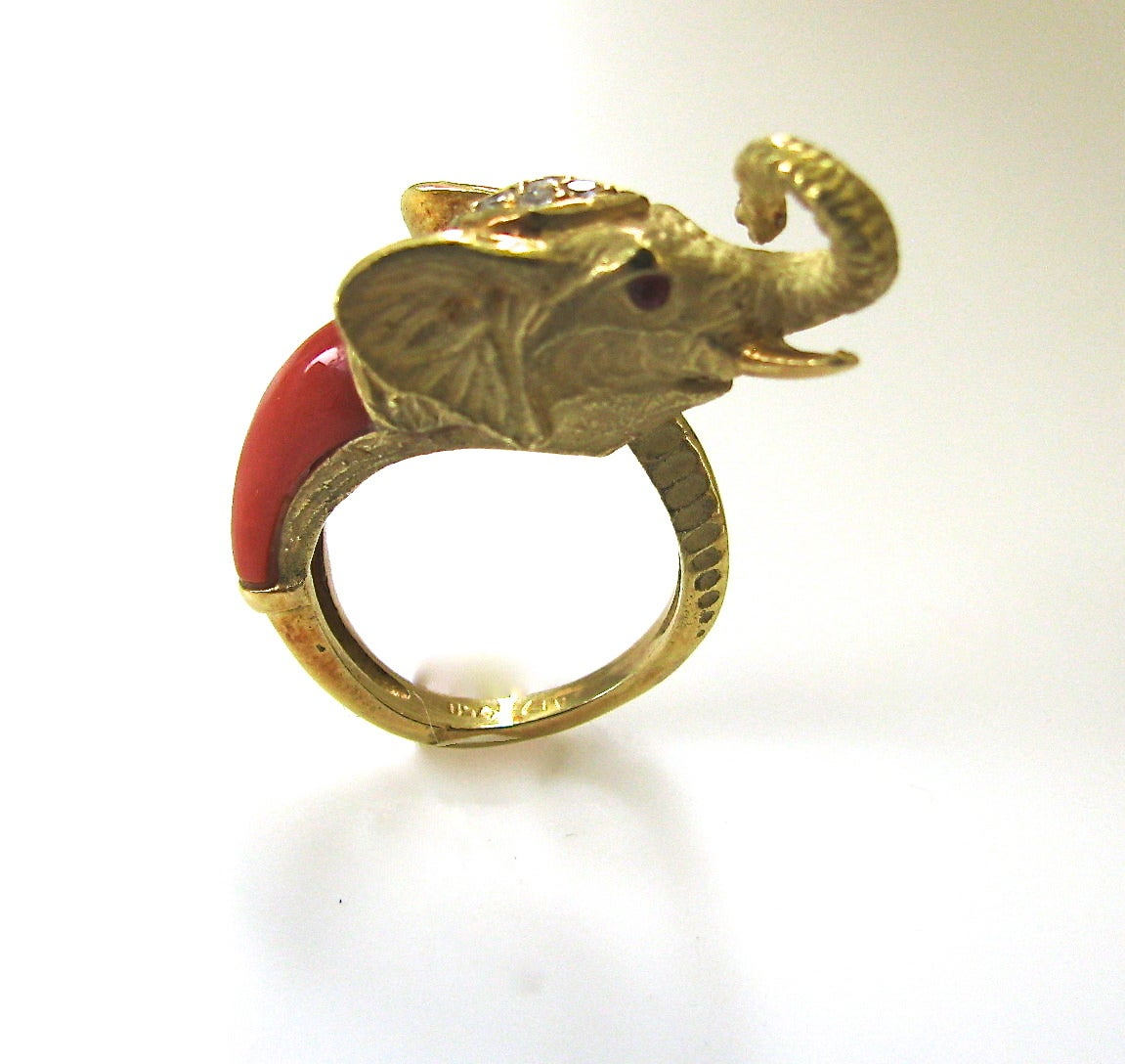 Coral Gold Mama and Baby Elephant Suite 6