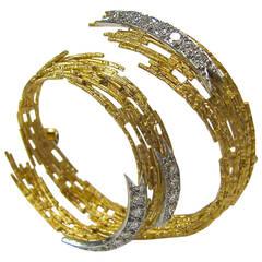 Andrew Grima Diamond Gold Brooch 1968