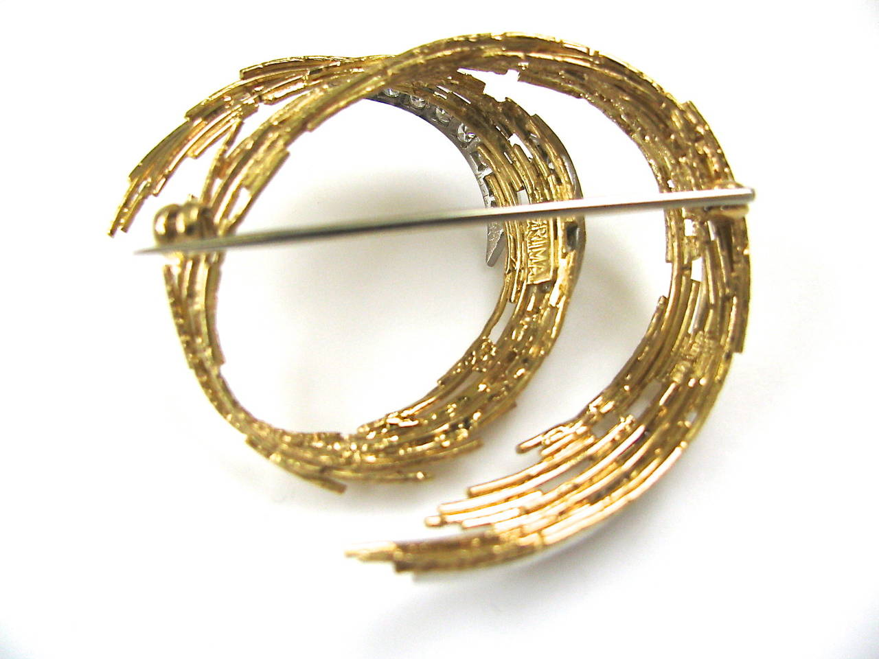 Andrew Grima Diamond Gold Brooch 1968 5
