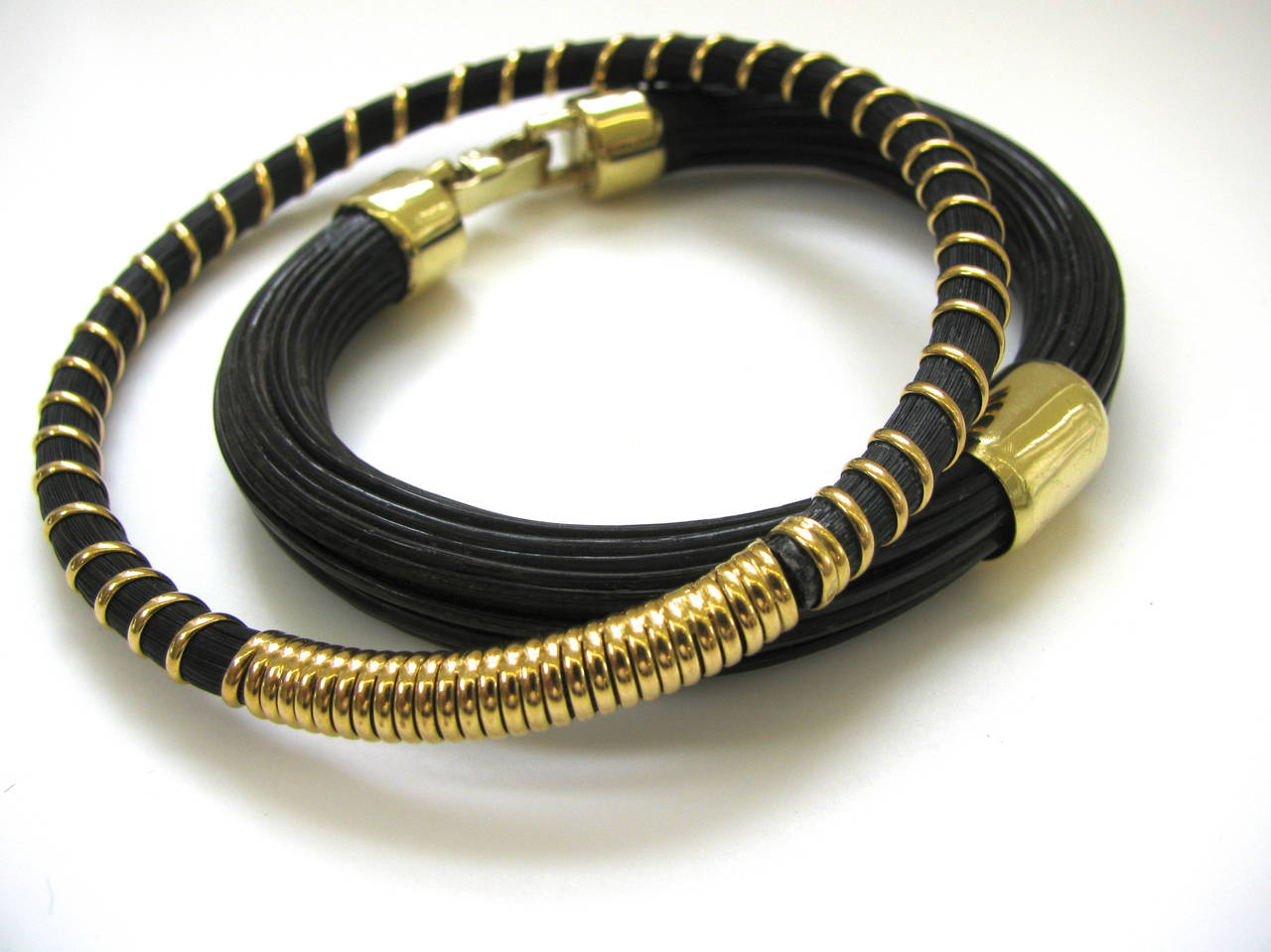 Women S Or Men A Gold And Elephant Hair Bracelet For