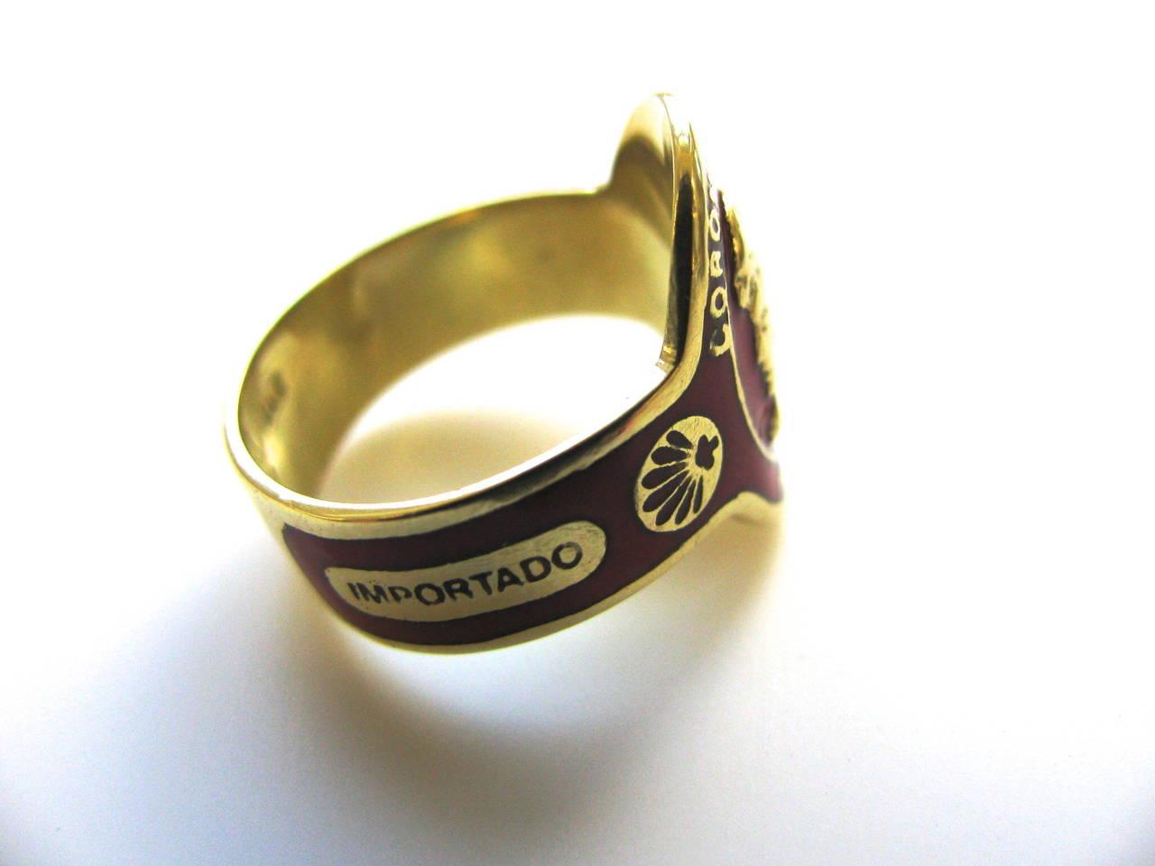 cartier enamel gold cigar band ring at 1stdibs
