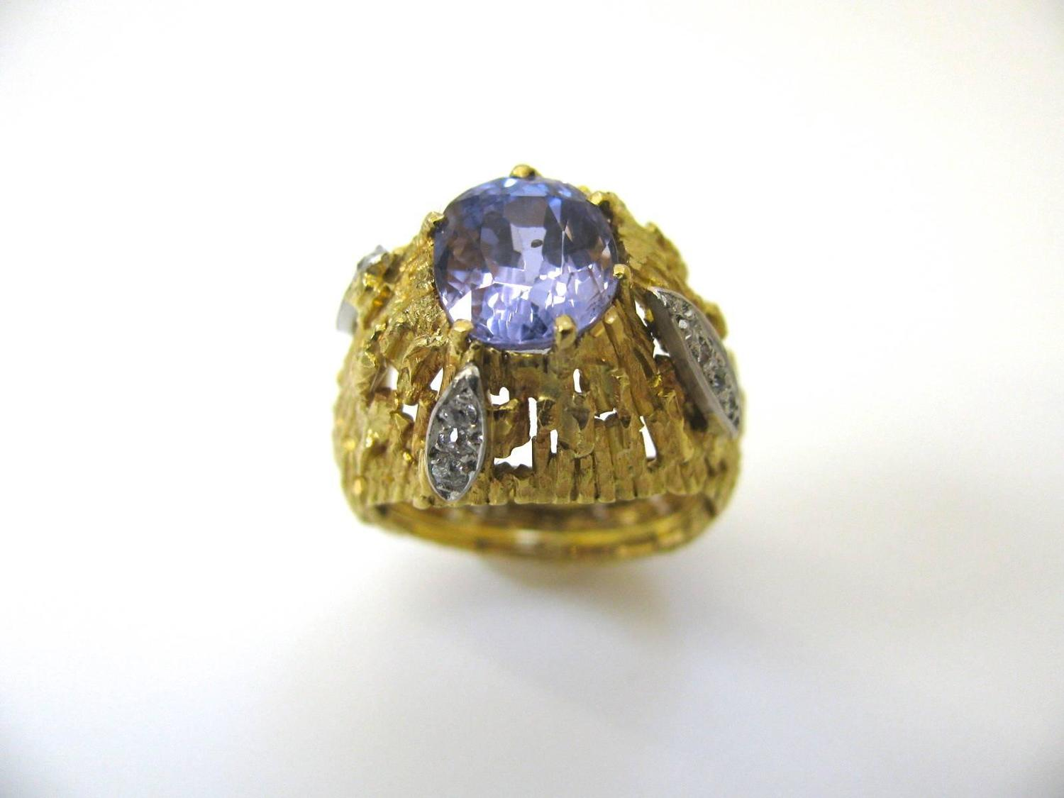 andrew grima lavender sapphire gold ring for sale at 1stdibs