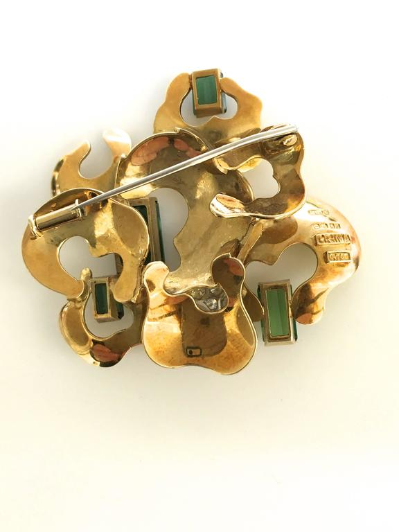 Andrew Grima ,a pretty tourmaline brooch. The 1 3/4