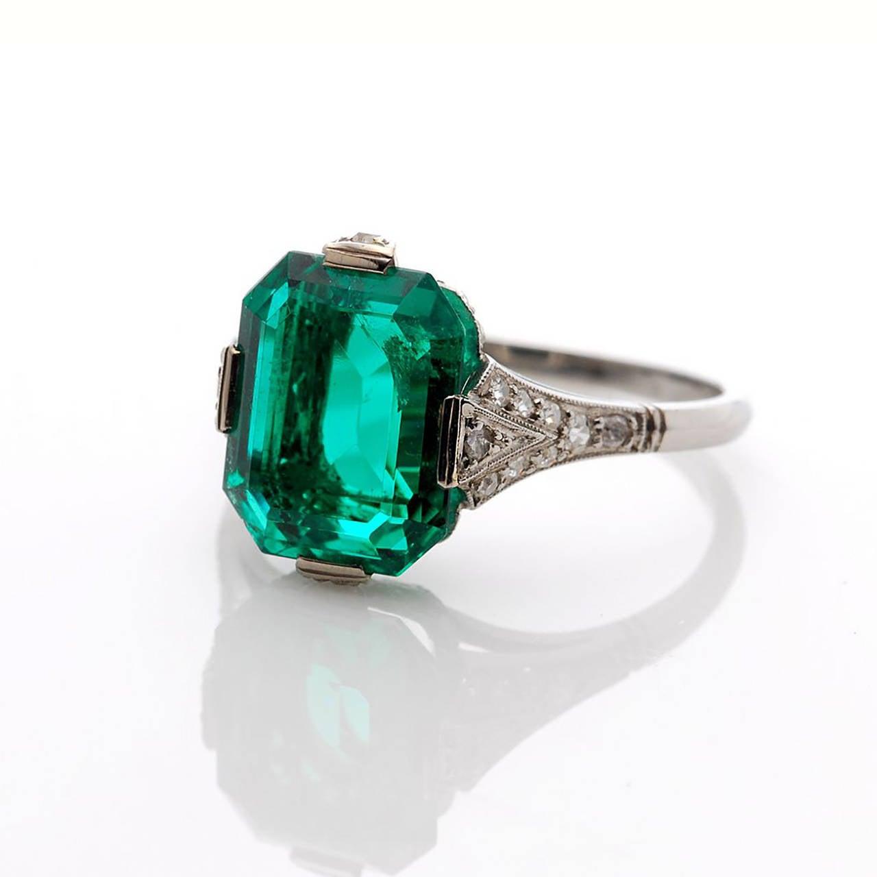 deco unenhanced 3 carat emerald ring at 1stdibs