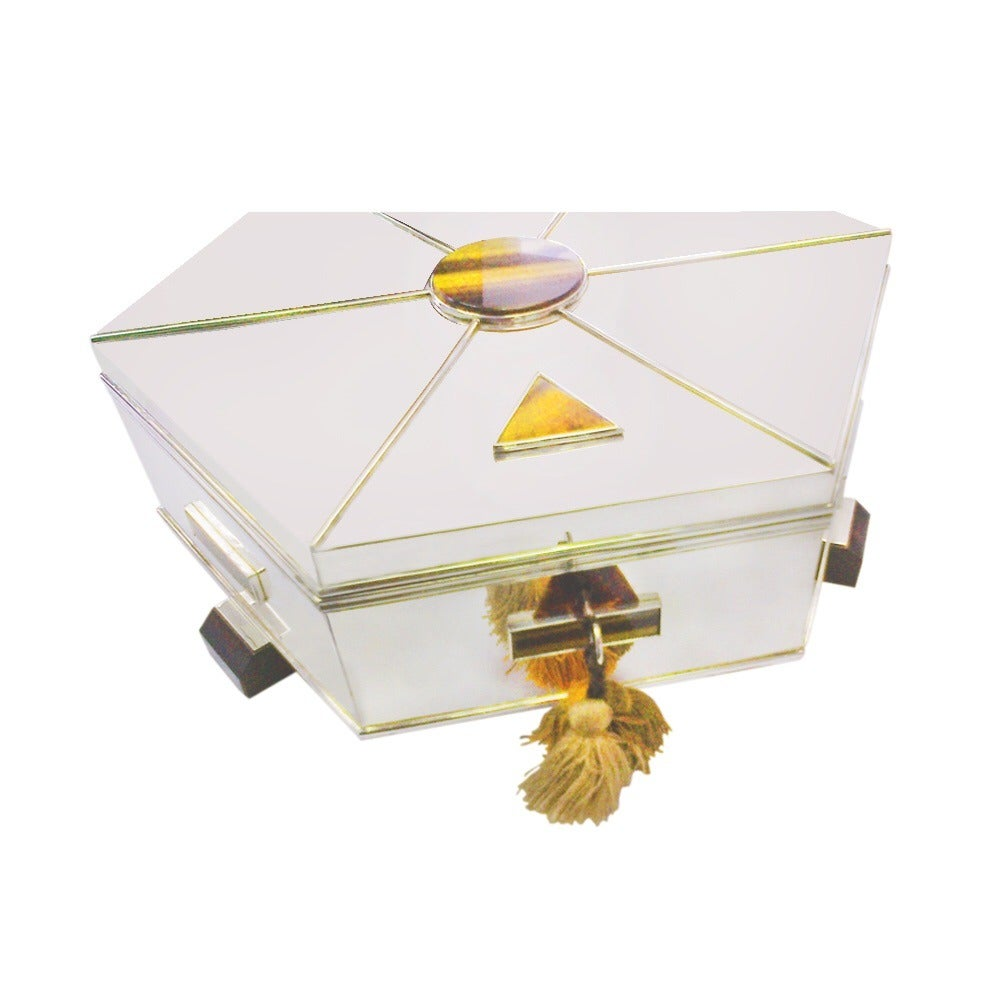 Maison cardeilhac art deco sterling silver jewelry box at for Objet deco maison