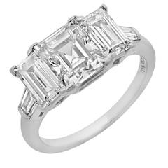 Classic  2.24 Carat GIA Cert Step Cut Diamond Platinum Ring