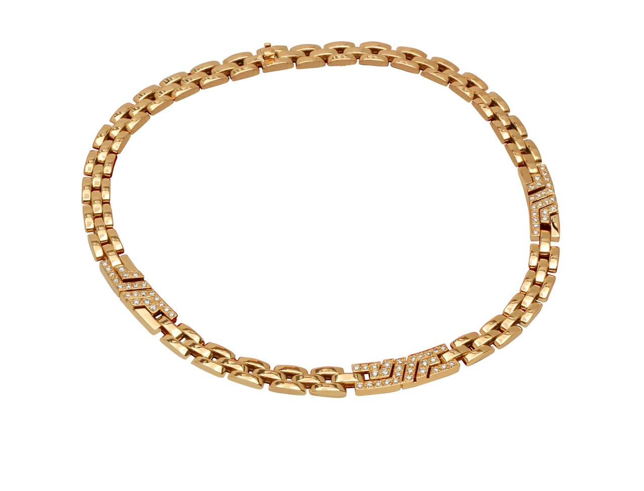 cartier maillon gold panther necklace image 4