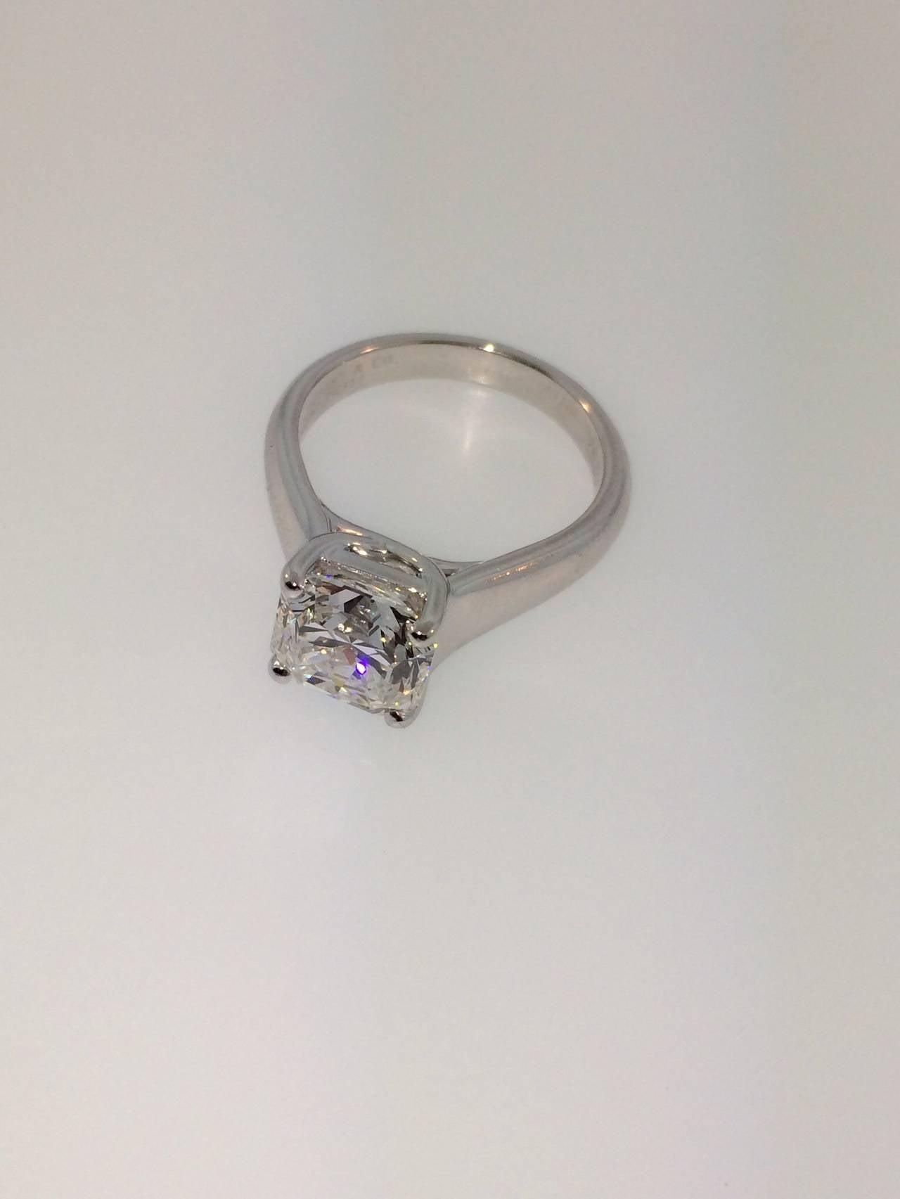 Tiffany and Co 2 95 Carat Lucida Diamond Platinum Engagement Ring at 1stdibs