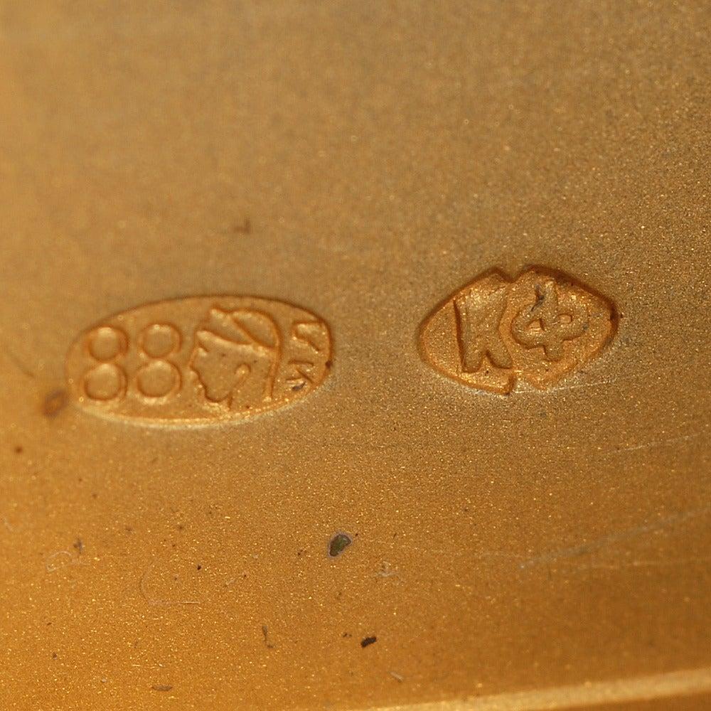 Fabergé Gilded Silver and Guilloché Enamel Vesta in Original Fitted Case 2