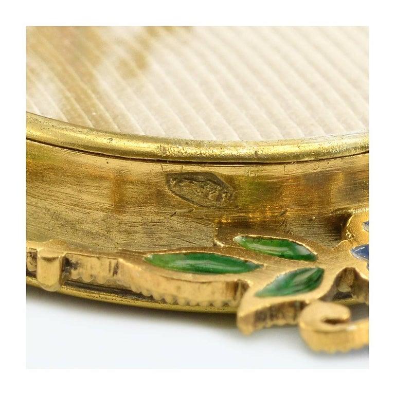 Pair of Miniature Art Nouveau Silvergilt and Plique-à-Jour Enamel Frames, Scheid For Sale 1