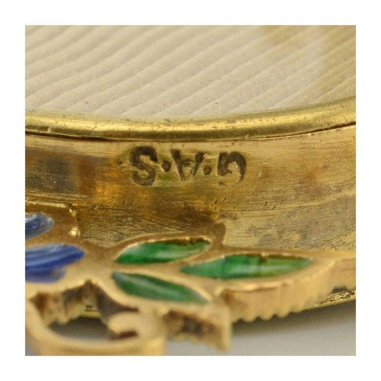 Women's or Men's Pair of Miniature Art Nouveau Silvergilt and Plique-à-Jour Enamel Frames, Scheid For Sale