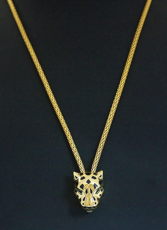 panth 233 re de cartier garnet gold panther necklace at 1stdibs