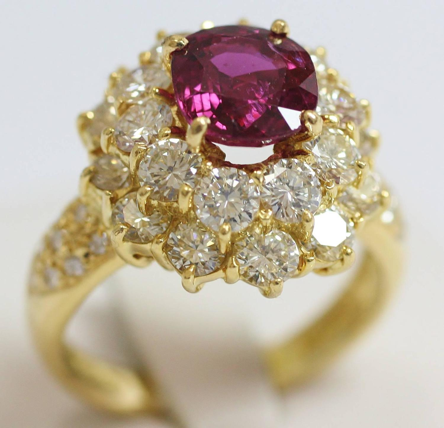 crimson ruby gold ring for sale at 1stdibs