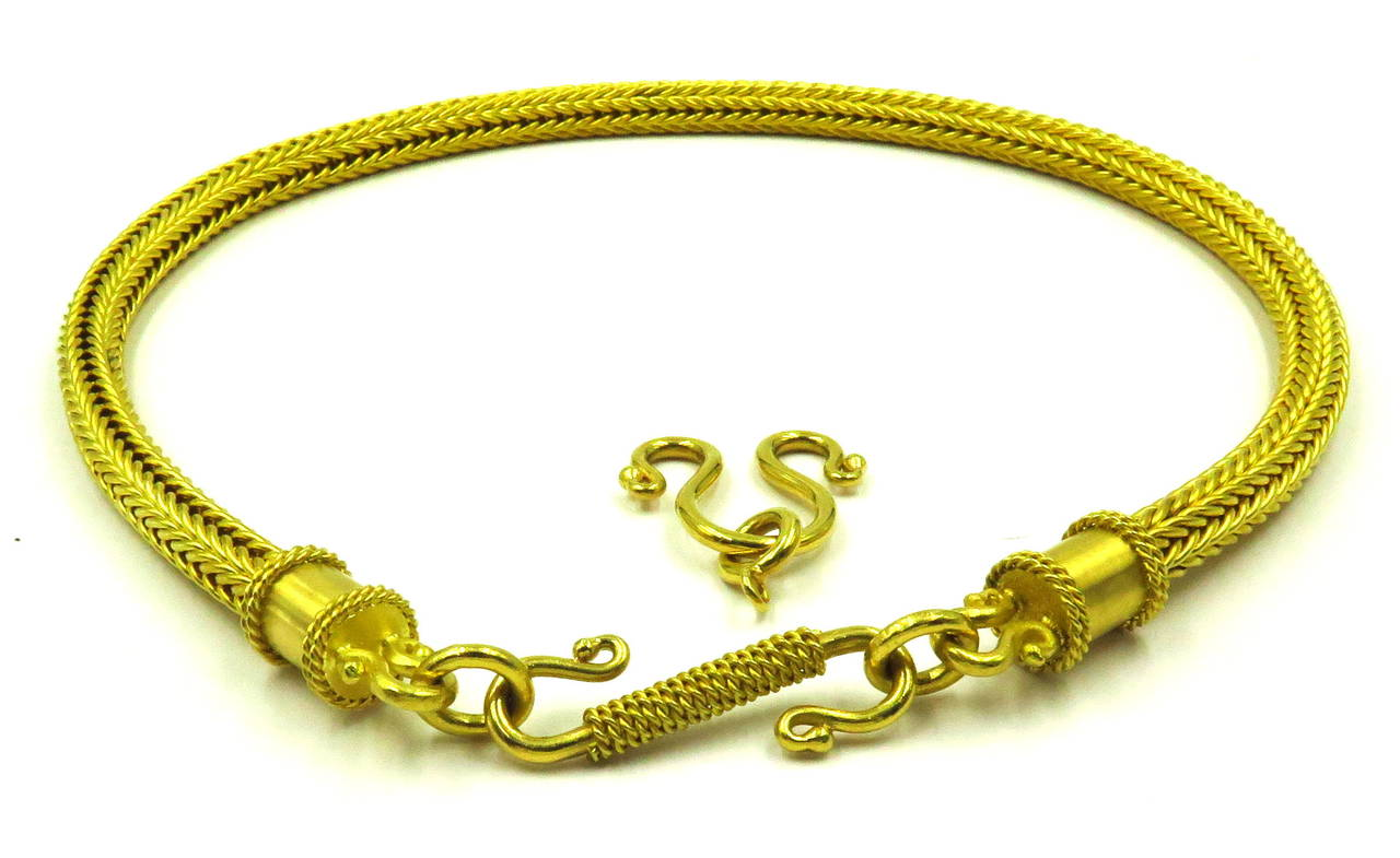Heavy Alchemy Thick Woven Gold Chain Necklace with Extender For ...