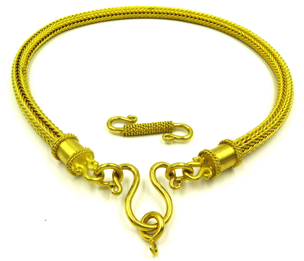 Heavy Alchemy Thick Woven Gold Chain Necklace With