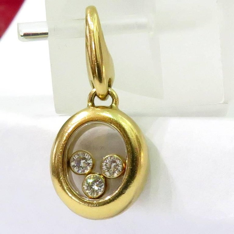 Chopard Happy Diamonds Gold Pendant on Original Lobster ...