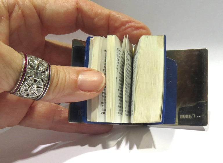 Tiffany Sterling Miniature Webster Dictionary For Sale at 1stdibs