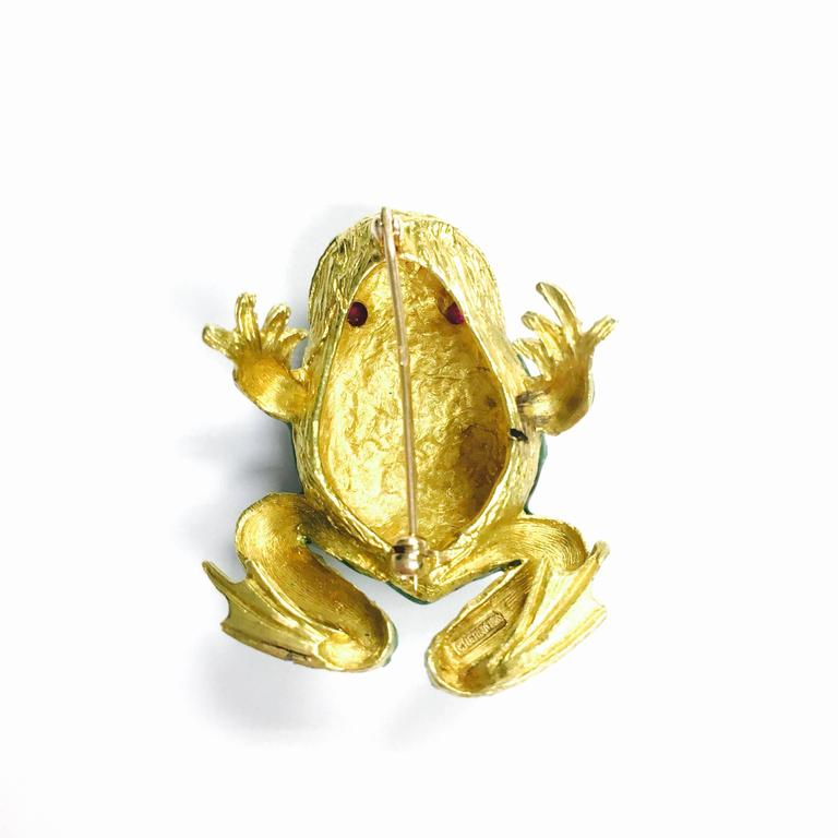 Enamel and Ruby Frog Brooch by Cheany 4