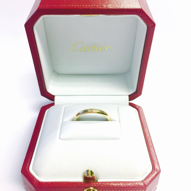Cartier Diamond Yellow Gold Dome Band Ring In Excellent Condition For Sale In Westlake Village, CA