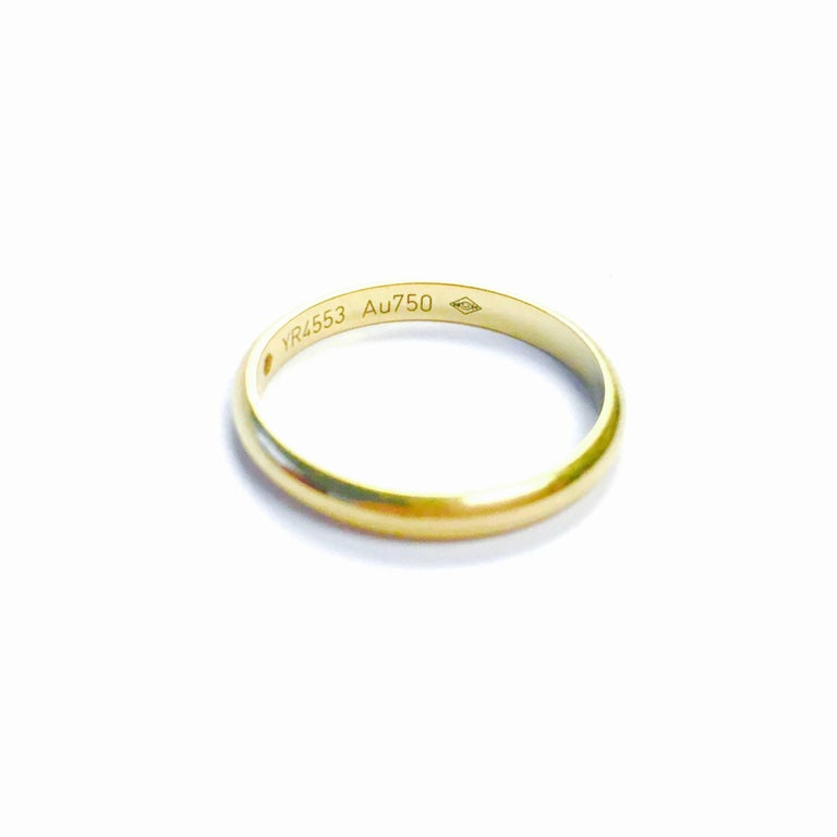 Cartier Diamond Yellow Gold Dome Band Ring For Sale 1
