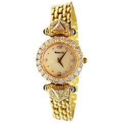 Warner & Co. Ladies Yellow Gold Diamond Quartz Wristwatch