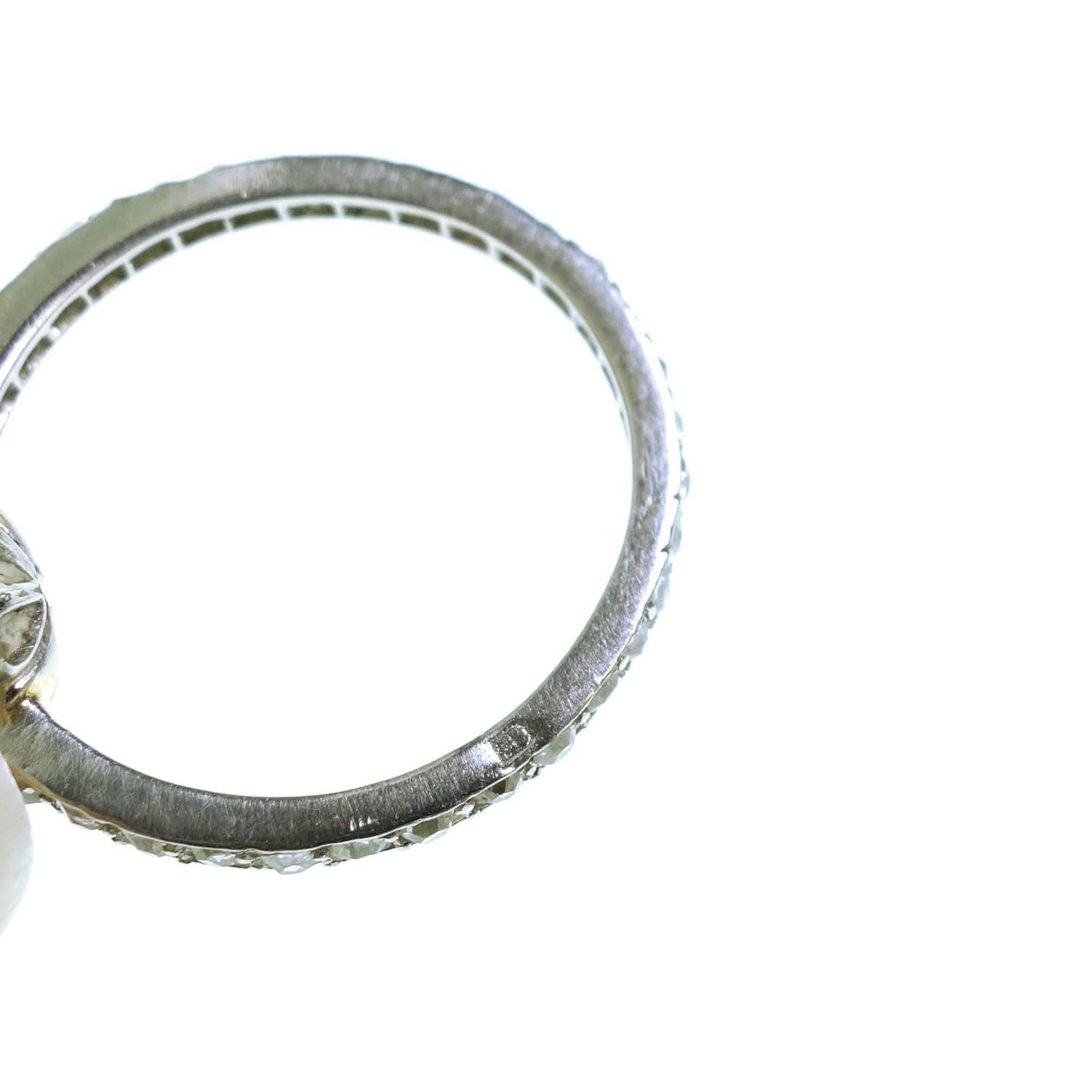 antique pearl platinum eternity ring at 1stdibs