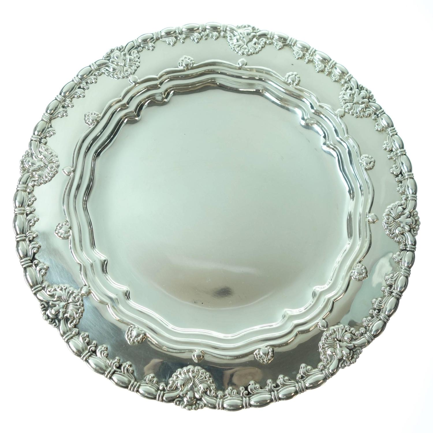 Sterling Silver Plates Set of Ten Circa 1905 at 1stdibs  sc 1 st  1stDibs & Tiffany and Co. Sterling Silver Plates Set of Ten Circa 1905 at 1stdibs