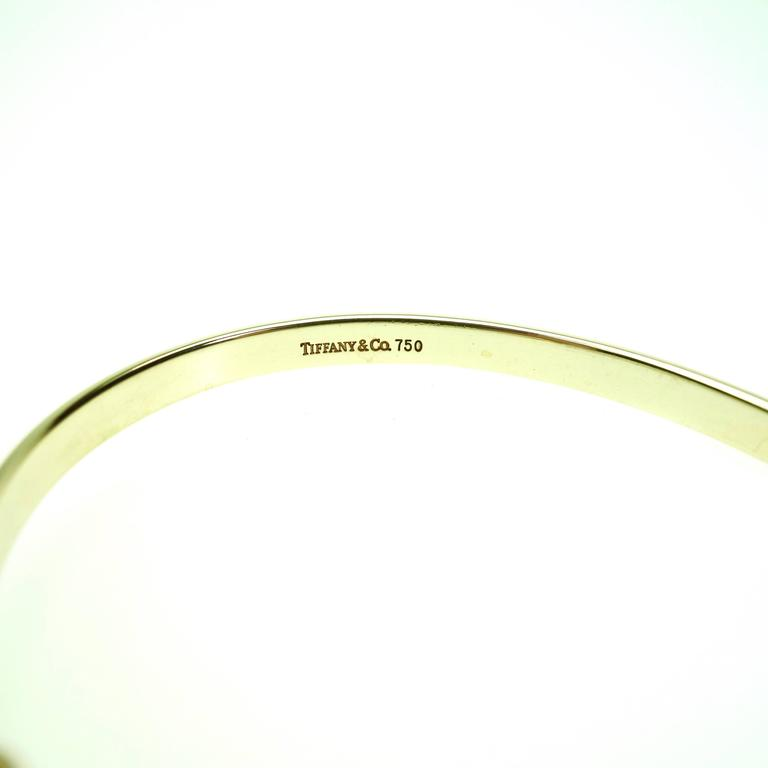 Tiffany & Co. Yellow Gold Hook and Eye Style Bangle Bracelet 2