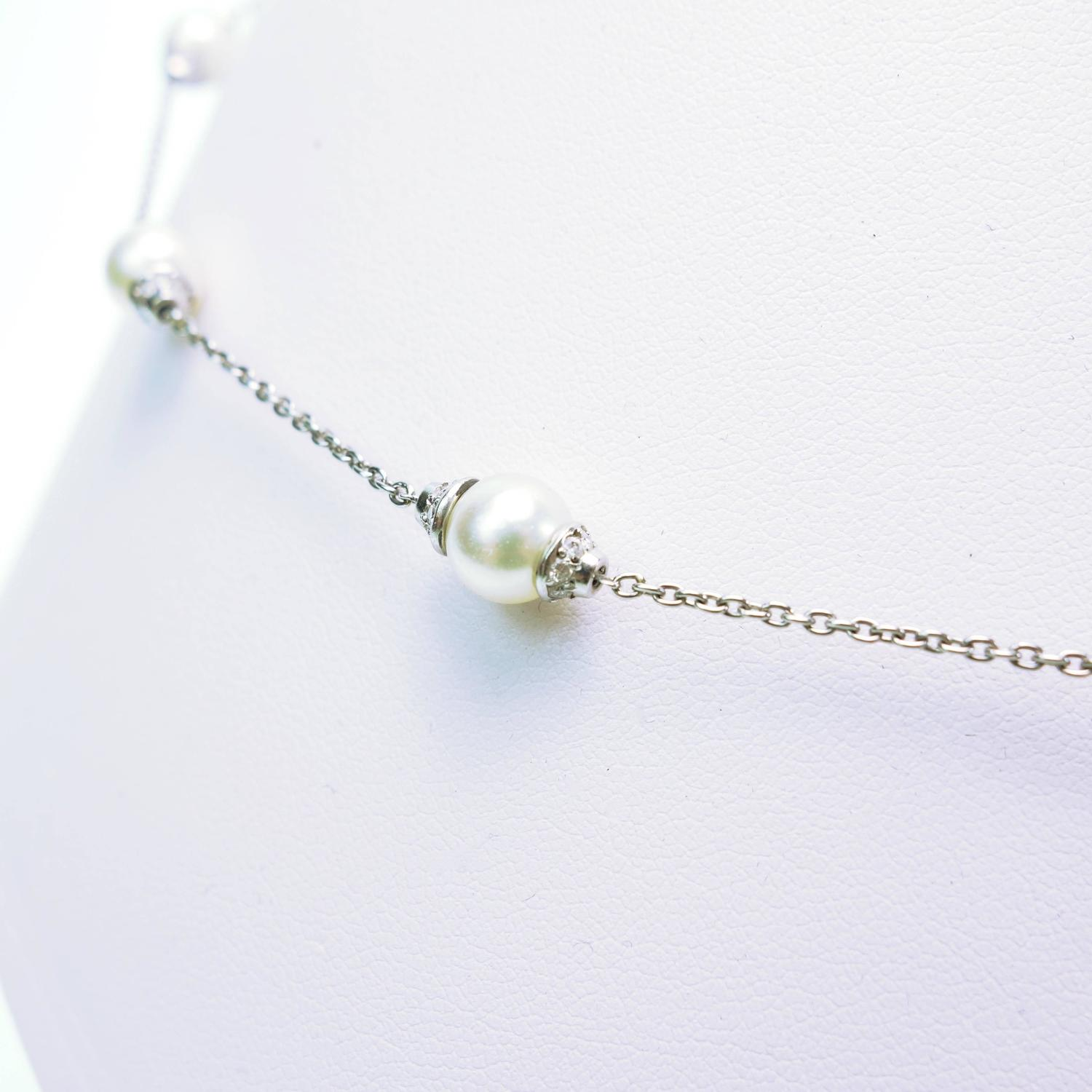 Michael b pearl diamond platinum necklace for sale at 1stdibs for Michael b s jewelry