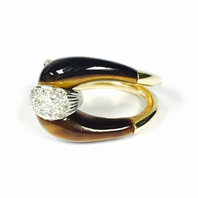 tiger s eye gold buckle ring for sale at 1stdibs