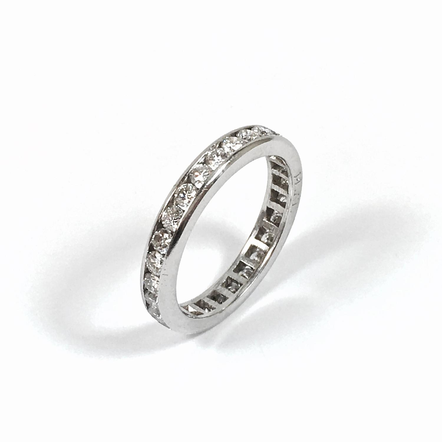 large platinum eternity band ring size 12 for sale