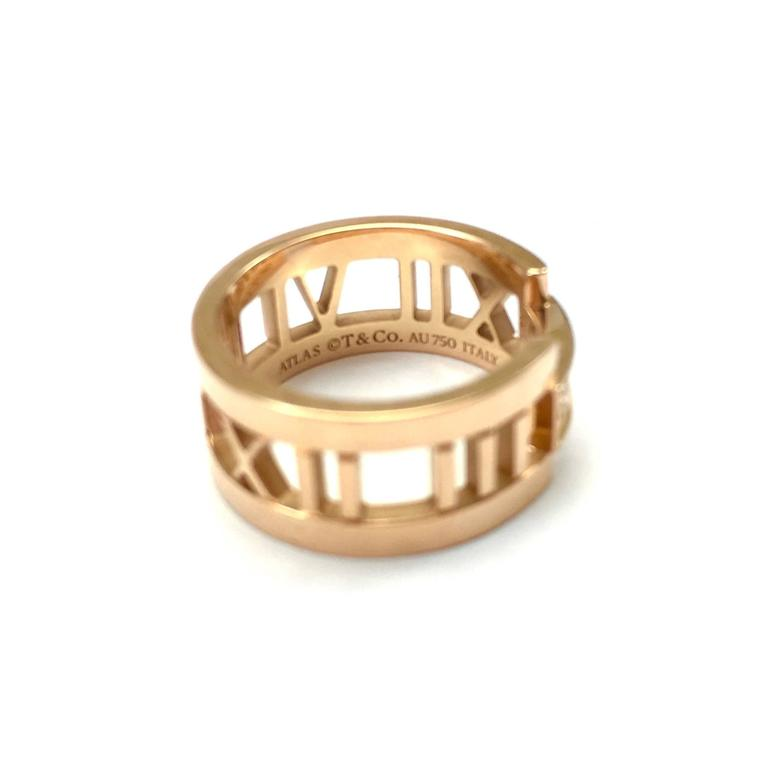 Tiffany And Co Atlas Rose Gold Diamond Open Ring At 1stdibs