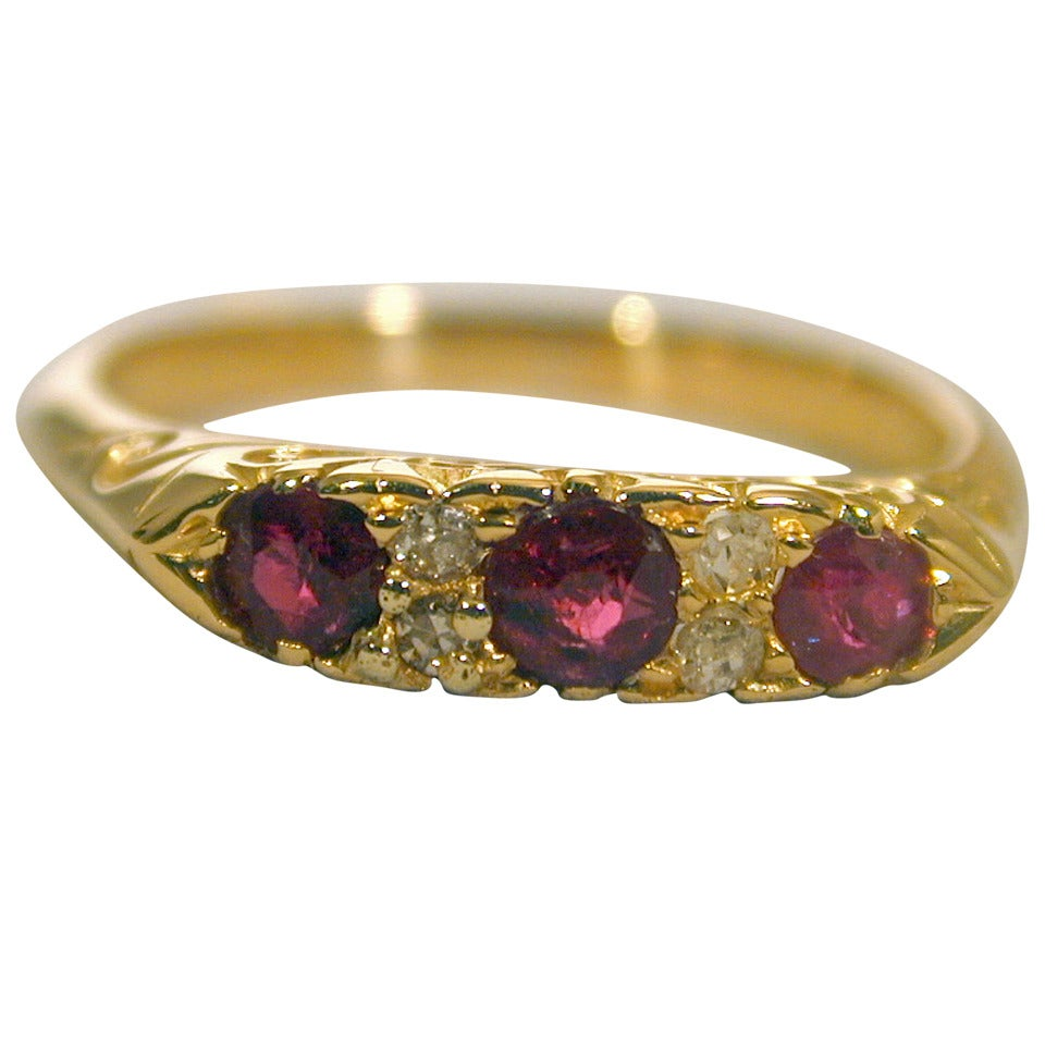 Antique Ruby Eternity Ring