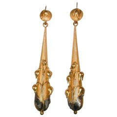 Antique Pinchbeck Drop Earrings