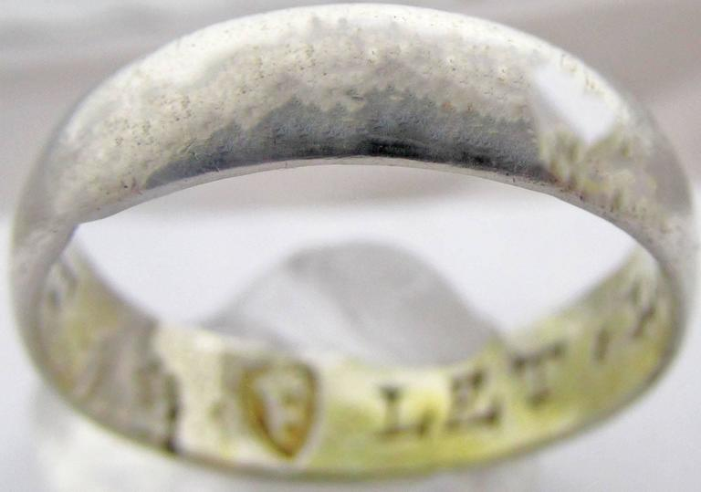 antique silver posie ring for sale at 1stdibs