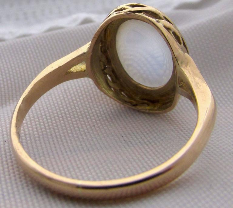 Antique Moonstone Gold Ring 7