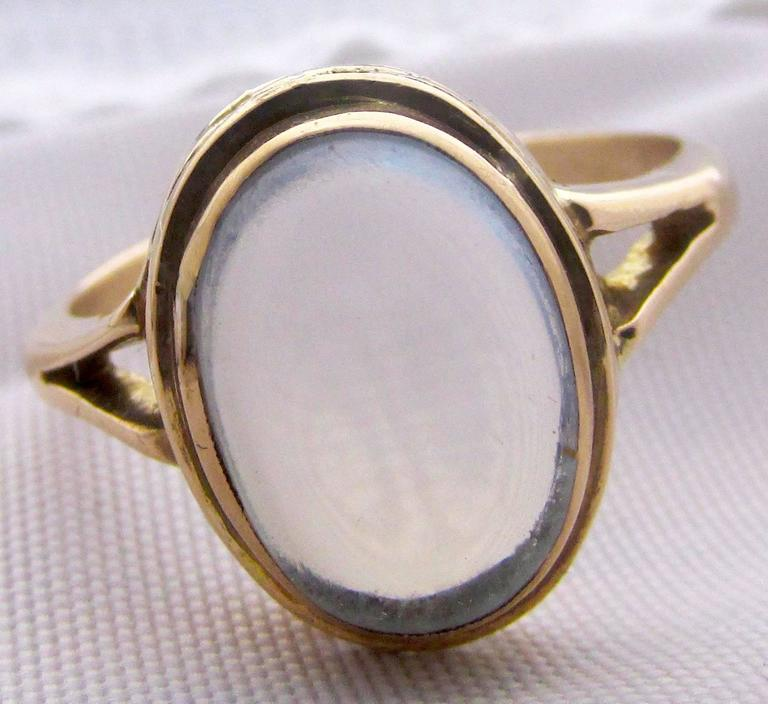 Antique Moonstone Gold Ring 2