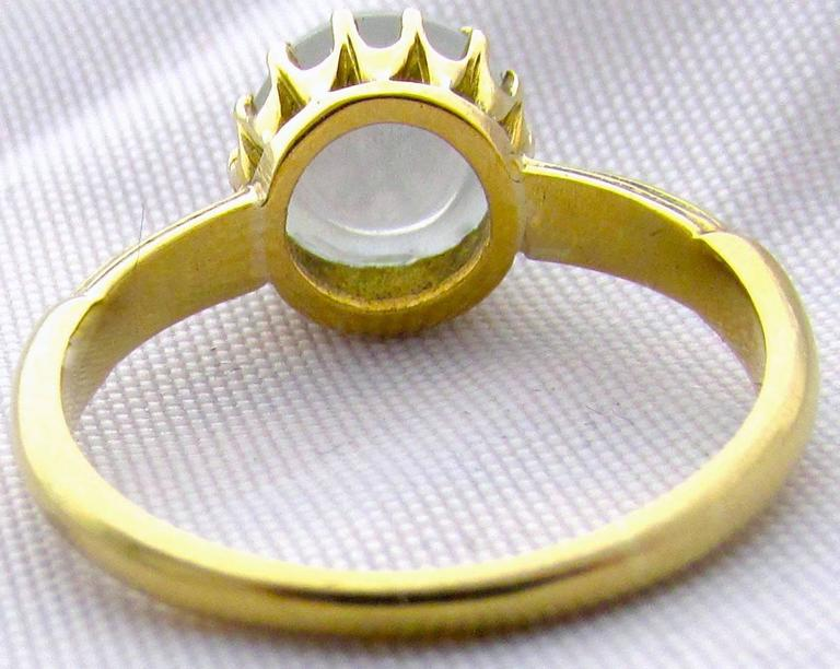 Antique Moonstone Gold Ring 8