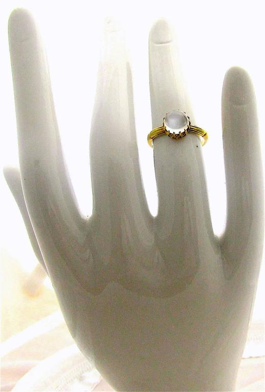 Antique Moonstone Gold Ring 5