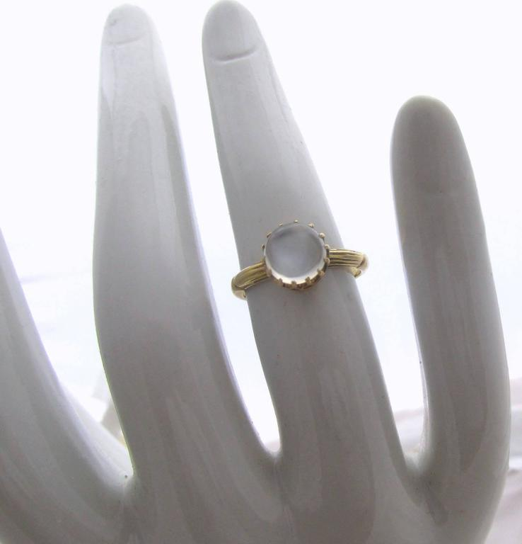 Antique Moonstone Gold Ring 6