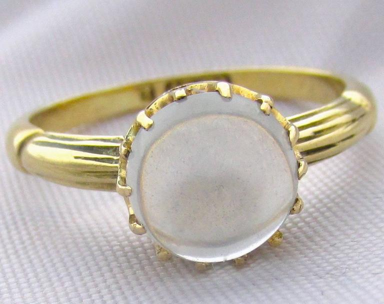 Antique Moonstone Gold Ring 3