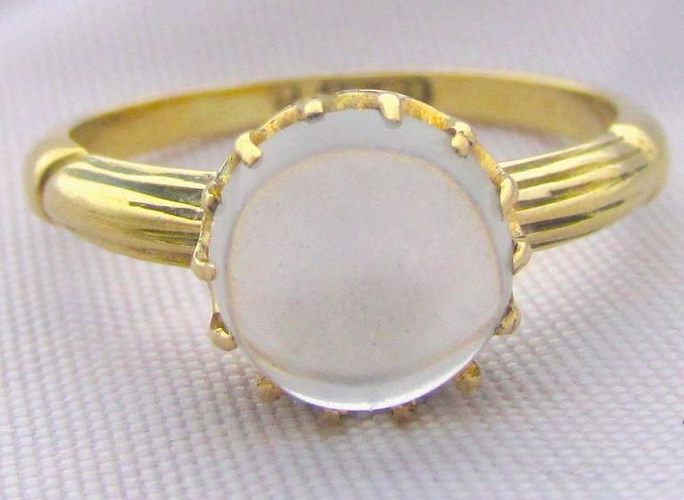 Antique Moonstone Gold Ring 4