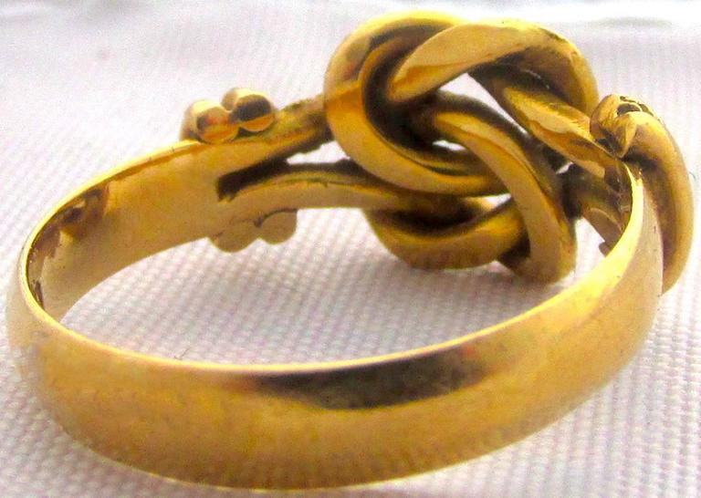Antique Gold Knot Ring At 1stdibs