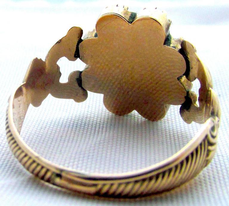 Antique Garnet Topaz Gold Cluster Ring For Sale 3