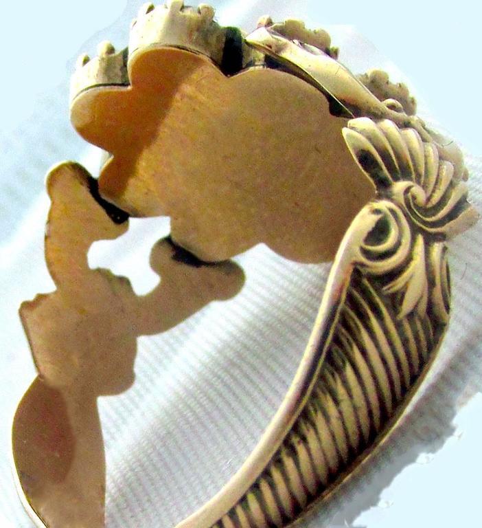Antique Garnet Topaz Gold Cluster Ring For Sale 4