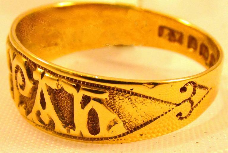Antique Gold Quot Mizpah Quot Ring At 1stdibs