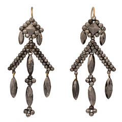Victorian Cut Steel Drop Earrings